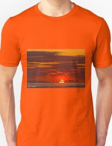 Sunset Over the Pacific Ocean Unisex T-Shirt