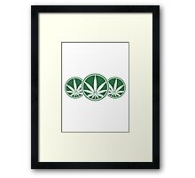 Cool Weed Logo Design Framed Print