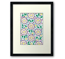 Purple Sunflowers Framed Print