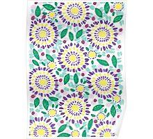 Purple Sunflowers Poster