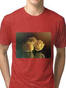 """La Rosa Amarilla"" by Lena Owens Tri-blend T-Shirt"