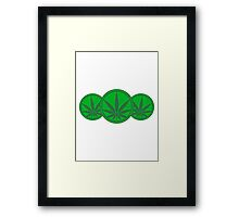 Cool Weed Logo Framed Print