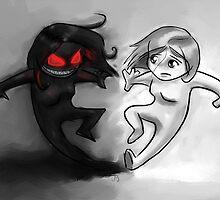 Painted Yin and Yang Chibi Cartoon by GoodMoeJo