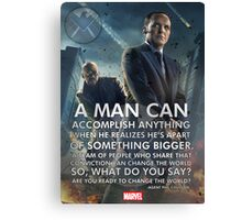 Marvel Agents of SHIELD Inspirational Poster Canvas Print