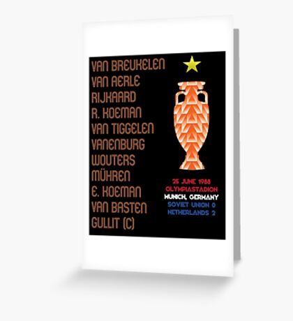 Netherlands 1988 Euro Winners Greeting Card