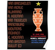 Netherlands 1988 Euro Winners Poster