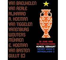 Netherlands 1988 Euro Winners Photographic Print