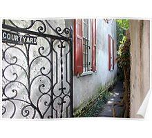 Charleston Courtyard Alley Poster