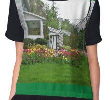 Tulip and Windmill Garden Chiffon Top