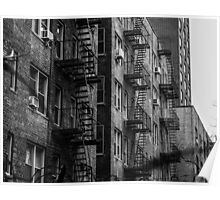 Black and White Apartments Poster