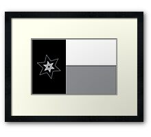 Spurs Flag Framed Print