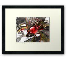 Digital Aftermath Abstract Framed Print