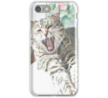 Yawning Cat iPhone Case/Skin