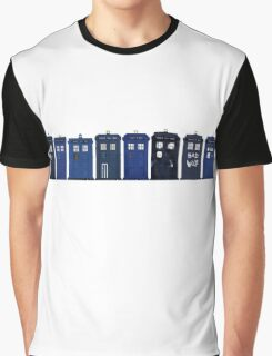 TARDIS Lineup Graphic T-Shirt