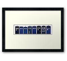 TARDIS Lineup Framed Print