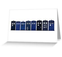 TARDIS Lineup Greeting Card