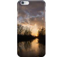 Winter Sunset - Lake Ontario, Toronto, Canada iPhone Case/Skin
