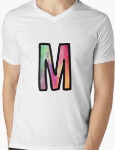 Letter M Mens V-Neck T-Shirt