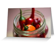 Chili Jar (1) Greeting Card