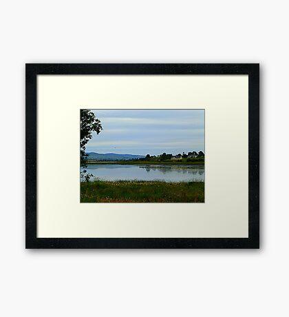 Across The Lake Framed Print