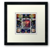 The Neon Globe Framed Print
