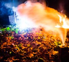 Smoke Backlit by Fire Sticker