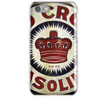1920's Vintage Red Crown Gasoline Sign iPhone Case/Skin