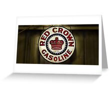 1920's Vintage Red Crown Gasoline Sign Greeting Card