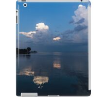 Cool Pearly Clouds Over the Lake iPad Case/Skin
