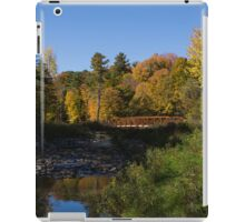 Rusty Little Bridge Complimenting the Fall Colors iPad Case/Skin