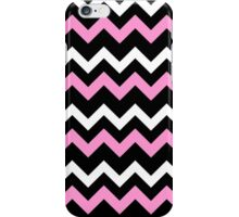 Pink Black White Chevron Pattern  iPhone Case/Skin