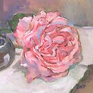 Pink Rose Cards, Pillows, and Tee Shirts by Deborah Pritchett