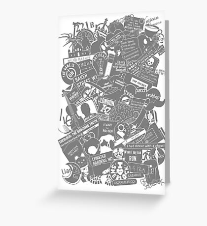 Ultimate Sherlock - Black and White Edition Greeting Card