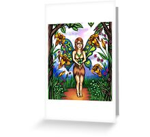 Luck of the Tiger Lily Fairy Greeting Card
