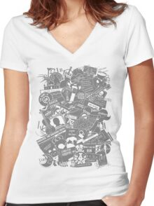 Ultimate Sherlock - Black and White Edition Women's Fitted V-Neck T-Shirt