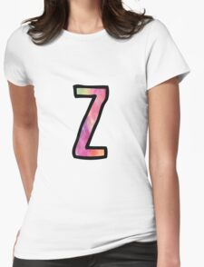 Letter Z Womens Fitted T-Shirt
