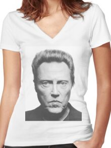 Christopher Walken Women's Fitted V-Neck T-Shirt