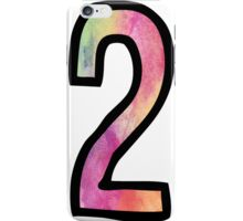 Number 2 iPhone Case/Skin
