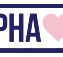 Brandy Melville Alpha Xi Sticker