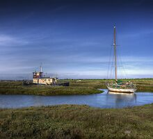 Boats Moored at Tollesbury by Nigel Bangert