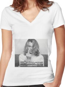 Johnny Depp Blow Women's Fitted V-Neck T-Shirt