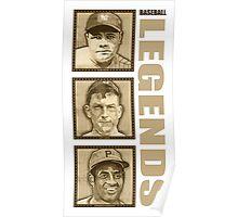 Baseball Legends Poster