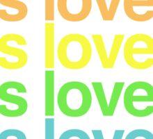 Love is love. Sticker