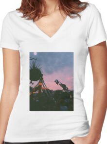 Fun Land Women's Fitted V-Neck T-Shirt
