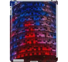 Bright Blue, Red and Pink Illumination - Agbar Tower, Barcelona, Catalonia, Spain iPad Case/Skin