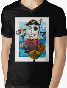 Humpty Dumpty the Pirate Mens V-Neck T-Shirt