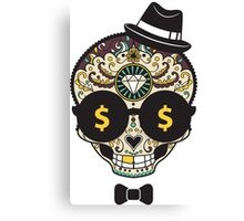 Rich Skull Canvas Print
