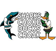 Sharks Choke and Ducks Croak - Light Photographic Print