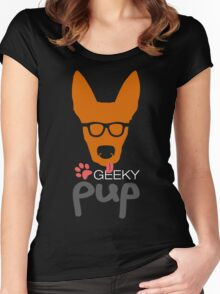 Geeky Pup Women's Fitted Scoop T-Shirt
