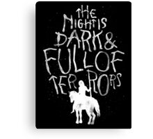 the night is dark Canvas Print